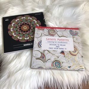 Other - ADULT COLORING BOOK BUNDLE-SET OF 2-NWT
